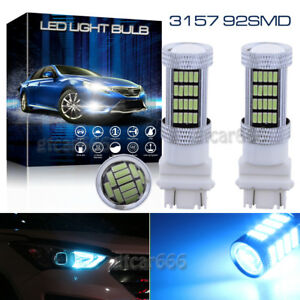 2x 92 Smd Led Bulbs For Chevy Gmc Dodge Ford Daytime Running Drl Lights Ice Blue