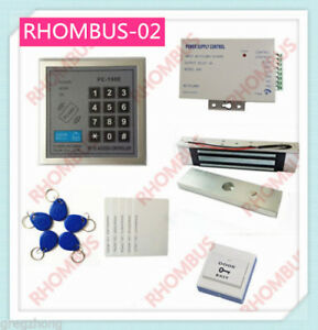 Access Control System W 180kg Electronic Lock 10rf Card power Supply exit Button