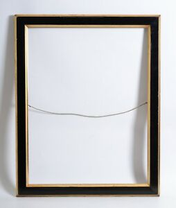Large Antique Eastlake Picture Frame Black And Gold 27 3 4 X 21 1 4 Rabbet