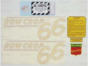 Oliver 66 Row Crop Tractor Decal Set Die cut Vinyl Label transfers Kit