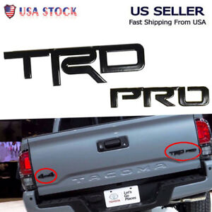 Car Pro Black Logo Painted Metal Emblem For Toyota Tacoma Trd 4runner Tundra As