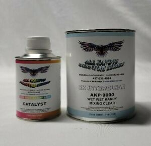 Wet Wet All Kandy S Mixing Clear Coat 1 Quart Kit With Katalyst For Pearl Candy