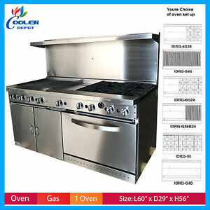 Oven Range 60 Griddle Single Oven Commercial Stove Top nsf Usa New