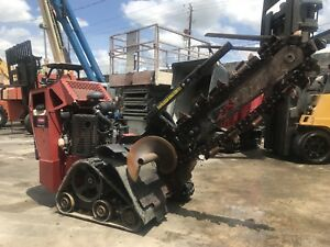 2013 Toro Trx20 Walk Behind Trencher With Trailer Track Skid Steer Trencher