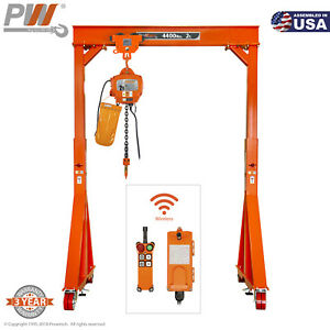 Prowinch Manual Gantry Crane 2 Ton 11 15 Ft Height 8ft Span Bundle With Elect