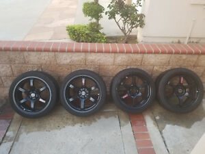 Rays Gram Lights 57dr Semi Gloss Black With Pirelli Tires