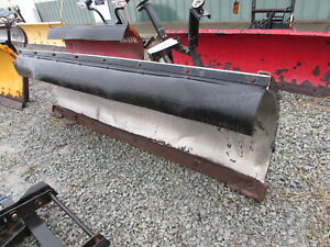 Used Buyers Snowdogg Ex80 8ft Stainless Steel Snow Plow Central Hydraulics