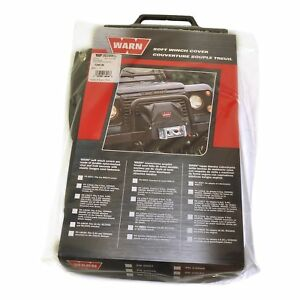 Warn 13918 Soft Winch Cover Xd9000 M8000 M6000 Mounted On Classic Bumper
