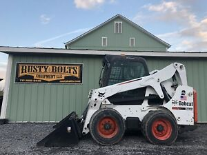 2010 Bobcat S650 Skid Steer Loader Enclosed Cab Heat Ac Kubota Diesel Cheap