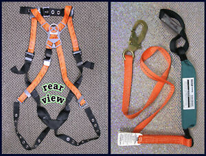 Safety Harness Plus 6 Lanyard new Fall Protection Msa made In The Usa