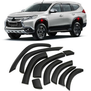 Arch Wheel Fender Flare Kit Deflector Trim For Mitsubishi Pajero Sport 2016 2018