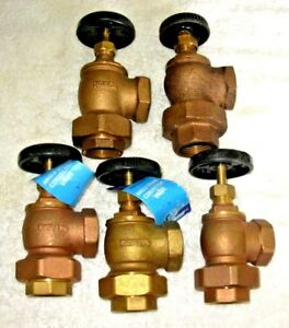 1 Brass Steam Radiator Shut Off Valve Angle Convector 5 14 50 Each Free ship