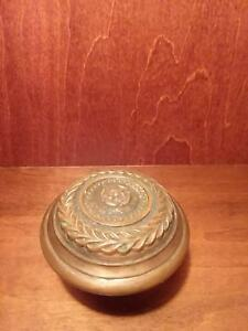 Antique Vintage Victorian Bronze Door Knob Doorknob Vine