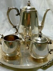 Wm Rogers Vintage 4 Piece Tea Coffee Set