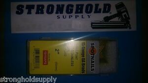 15g 2 Ss Angle Finish Nails 15116aps Spotnail Stainless Steel 1000 Per Carton