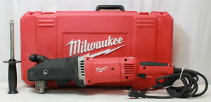 Milwaukee 1680 20 13a Superhawg 1 2 Right Angle Drill used