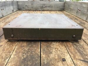 Antique Floor Safe Platform With Caster Wheels Diebold