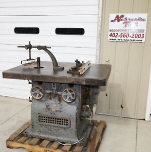 Vintage Woodworking New Advance Machinery Ohio Double Spindle Wood Shaper