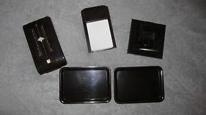 Vintage Five Piece Bakelite Desk Items And Vanity Trays Office Accessories