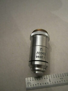 Microscope Part Optics Objective 100x Lomo Russia As Is Bin red