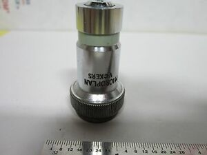 Microscope Objective Vickers Uk England 10x Metallograph Optics Bin g5 24