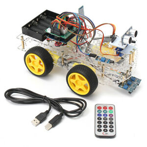 4wd Programmable Smart Robot Car Starter Kit With Remote Control For Arduino