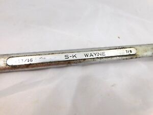 Vintage Sk Wayne B 2628 Double Box End Wrench 13 16 7 8