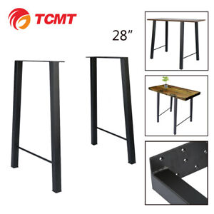 28 Industry Trapezoid Dinner Table Leg Metal Steel Bench Legs One Set Classic