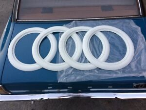 15 Tire Trim White Wall Set Of 4 Fits Tire Size 165 80 15 For Vw Super Beetle