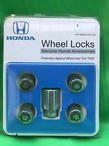 Honda 08w42 Scv 101 Oem Wheel Lock Set Used