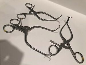 3 Signet Gelpi Retractors 6 5 Made In Germany Used