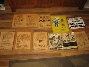 Vintage Foundry Safety Sam more Cool Paper Signs Take Alook Ajax Sayre Pa Foudry