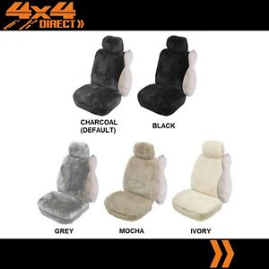 Single 16mm Sheepskin Wool Fleece Car Seat Cover For Pontiac Fiero
