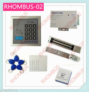 Access Control System W 280kg Electronic Lock exit Button 10em Card power Supply