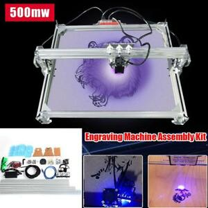 Diy 500mw Desktop Laser Engraving Machine Logo Marking Printer Engraver 65x50cm