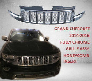 Fully Chrome Grille Jeep Grand Cherokee 2014 2016 Assy Honeycomb Insert