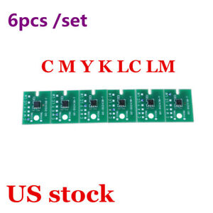 Us Stock permanent Roland Xc 540 Eco Solvent Chips 6pcs set Cmyklclm