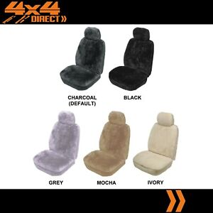 Single 25mm Sheepskin Wool Car Seat Cover For Pontiac Fiero