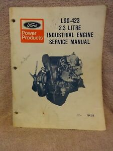 Ford Lsg 423 2 3 Litre Industrial Engine Service Manual 194 216