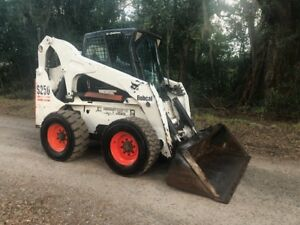 Bobcat S250 Skid Steer Loader W Cab Ac Heat Only 1178 Hrs