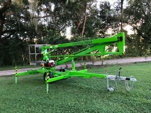 Brand New Nifty Tm34 40 Ft Towable Boom Lift W Honda Engine New Never Used
