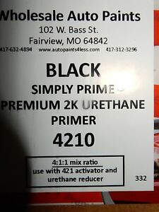 1 5 Gallon Black High Solid Build Filler Premium 2k Urethane Primer Surfacer Kit