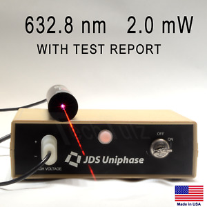 Jds Uniphase 1101 Hene Laser Red 632 8 Nm 2 Mw Power Supply Test Report