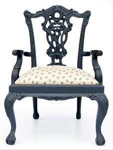 Vintage Chippendale Style Childrens Arm Chair