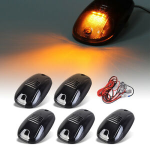5 Clearence Cab Running Marker Light Amber Led harness For 03 16 Dodge Ram1500