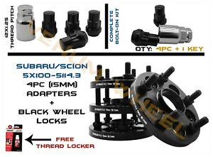 4pc 5x100 To 5x114 3 Conversion Adapter Includes 4 Wheel Locks 12x1 25 Key