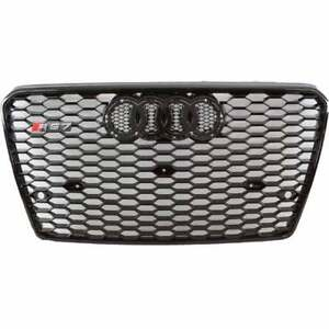 12 13 14 15 Audi A7 S7 Rs7 Style Front Hex Mesh Grille Black Badgeless