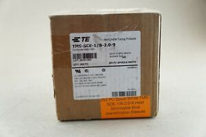 250 Pc Spool White Tms sce 1 8 2 0 9 Heat Shrinkable Wire Identification Sleeves