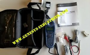 Fluke Networks Ts250 Basic Rate Isdn Test Set With Accessories 25475 000 New
