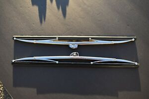 55 56 57 1955 1956 1957 Chevy Chevrolet New Pair Polished Wiper Blades
